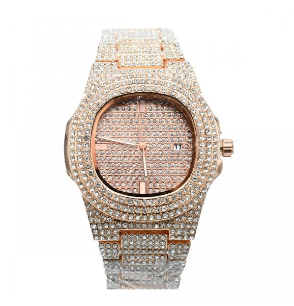 Ceas dama fashion cristale rose gold Alexandra's
